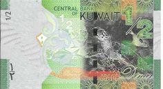 KUWAIT - CÉDULA DE 1/2 DINAR - TEMA FAUNA TARTARUGA ANO 2014 - PEÇA EM ESTADO DE CONSERVAÇÃO FLOR DE