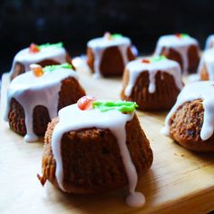 Freego #glutenfree #Christmas pudding cupcakes