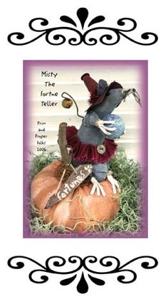 Primitive Halloween Mouse - Misty the Fortune Teller $5.00