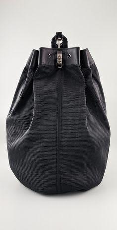 a6ff6aeec31 Alexander Wang Scuba Bag Leather Shoulder Bag, Shoulder Strap, Alexander  Wang, Bucket Bag