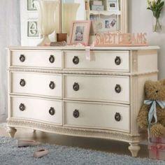 Detroit: GoRgEoUs Antique White Dresser and Mirror Boutique- Lea Furniture Emma's Treasur $475 - http://furnishlyst.com/listings/919166