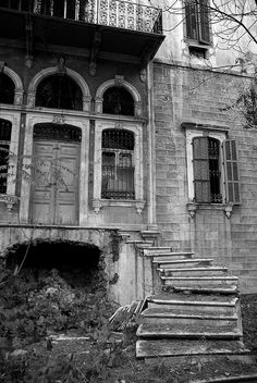 Abandoned Mansion, Beirut  Lebanon   ...In the Hamra area of Beirut.
