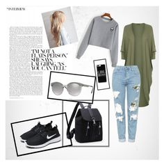 """""""Versace"""" by suljic-melika ❤ liked on Polyvore featuring WearAll, Topshop, NIKE, Casetify, Versace, boyfriend, nike and polyvoreset"""