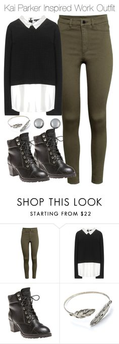 """""""Kai Parker Inspired Work Outfit"""" by staystronng ❤ liked on Polyvore featuring H&M, Alice + Olivia, Wet Seal, Kenneth Jay Lane, Work, autumn, tvd and KaiParker"""