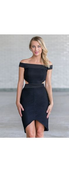 Lily Boutique Any Way You Want Cut Out Pencil Dress in Black, $32 Black cutout pencil dress, cute little black cocktail dress www.lilyboutique.com