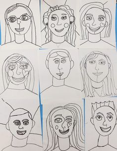 Cassie Stephens: In the Art Room: Romero Britto Inspired Self Portraits