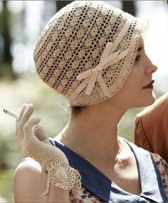 Audrey Tautou wearing Crochet Hat