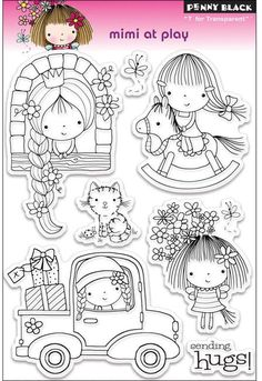 Mimi At Play - Clear Stamp