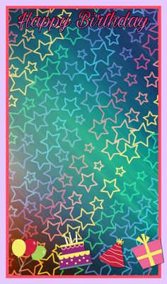 Happy Birthday frame Rainbow Wallpaper, Star Wallpaper, Wallpaper Iphone Cute, Colorful Wallpaper, Cellphone Wallpaper, Screen Wallpaper, Mobile Wallpaper, Pattern Wallpaper, Cute Wallpapers