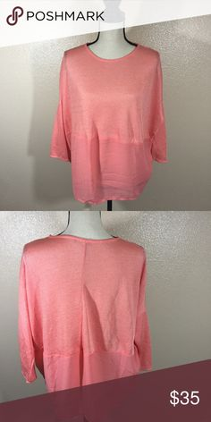 Zara Two Tone Blouse Like new. No rips or stains Zara Tops Blouses