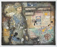 """Victorian """"Godey's Fashions"""" Original Mixed Media Collage Art on 4""""x5"""" Canvas Board"""