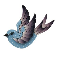 Limited Edition, Erstwilder Fancie Jo Sparrow in blue. Designed by Louisa Camille Melbourne. $29.95
