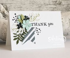 Stampin' Up! Botanical builder, bloom, Stampin' Cards and Memories: Artisan… Pretty Cards, Cute Cards, Beautiful Handmade Cards, Marianne Design, Card Making Inspiration, Card Sketches, Card Tags, Flower Cards, Creative Cards