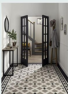 Tile trends 2020 – from Art Deco flair to new heritage, dark drama, and Italian terrazzo these are the surfaces you need to see Tiled Hallway, Hallway Ideas Entrance Narrow, Hallway Flooring, Modern Hallway, Hallway Shelf, Hallway Art, Entryway Ideas, Modern Room, Casa Art Deco