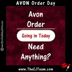 Avon Order Going In Today, Need Anything? Avon Campaign 15 order day!  Get these deals before they are gone. ✔ FINAL DAY to Order Avon Campaign 15. Browse the online brochure to see all of our great deals. #avon #LastDay Avon Campaign 15, 2017. Available through July 3, 2017. #Avon #CJTeam #AvonSale #Campaign15 #C15 #AvonOrderDay #AvonCampaign15 #New Sell Avon Online @ www.cjteam.us. Shop Avon Online @www.TheCJTeam.com