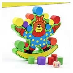 儿童木质益智积木小熊平衡亲子游戏 幼儿园早教中心推荐玩具260