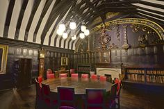 Chetham's Library Reading Room.  Chetham's Library is one of the oldest library in Britain.  Located in Manchester, Greater Manchester, England, UK.