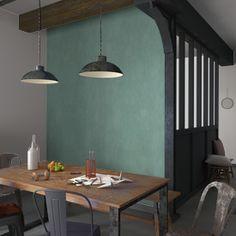 Optez pour cette sublime teinte vert de gris !  L'intissé CLASSIC LINE sera parfait pour donner une touche résolument industrielle à votre décoration. Tendance et de caractère, cette couleur originale apportera mystère et fraîcheur à votre intérieur.
