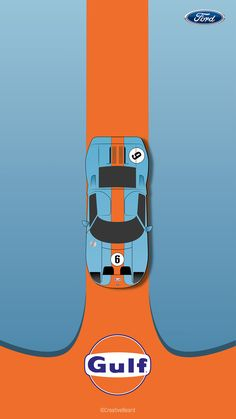 Ford Gt Gulf, Ford Gt40 1966, Special Wallpaper, Car Posters, Vintage Race Car, Car Drawings, Automotive Design, Le Mans, Vintage Advertisements