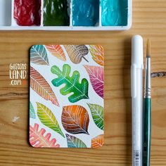 Aceo#37 / Leaves  #gusosos_aceo_project #1aceo_a_day