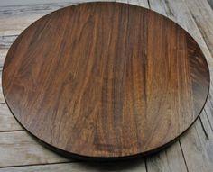 Walnut Lazy Susan #feelinglazy #lazy #walnut #turntable #lazysusan pickslayswoodworking.com Lazy Susan, Feeling Lazy, Handmade Wooden, Woodworking, Home, Ad Home, Homes, Carpentry, Wood Working