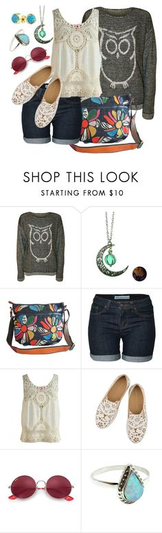 """Running Errands"" by elsiebeagie ❤ liked on Polyvore featuring WearAll, AmeriLeather, Ray-Ban and Bling Jewelry"