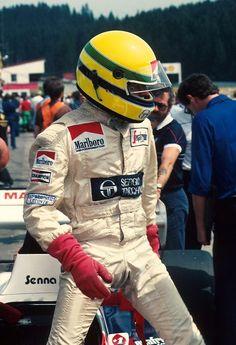 Ayrton SENNA - Toleman TG184 Hart 415T - Toleman Group Motorsport - XXII Grosser Preis von Osterreich - 1984 FIA  Formula 1 World Championship, round 12