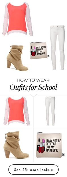 """first day of school"" by kanasteinbock on Polyvore featuring Sandro, Sole Society, Sephora Collection, women's clothing, women's fashion, women, female, woman, misses and juniors"