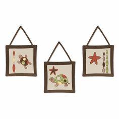 Sweet Jojo Designs Turtle 3-Piece Wall Hangings available at TinyTotties.com #tinytotties #kidsroomdecor