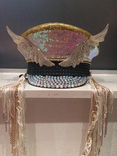 Custom Burning Man captain hat reversible by IneffableGlitter