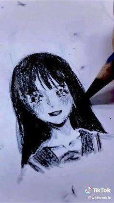 Art Drawings Sketches Simple, Pencil Art Drawings, Arte Do Kawaii, Anime Character Drawing, Arte Sketchbook, Aesthetic Art, Art Tutorials, Cute Art, Marker