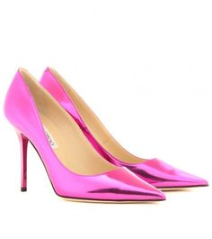 Abel Metallic Leather Pumps - Lyst  These are for looking good while sitting.  hawt.