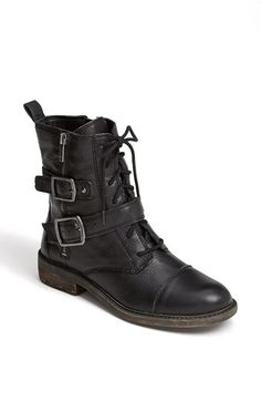 Strong combat boots with buckles and shoelaces and BLACK and LEATHER. Lucky Girl, Cool Style, My Style, Shoe Boots, Women's Shoes, Lucky Brand, Combat Boots, Autumn Fashion, Nordstrom