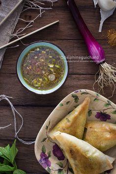 #Samoussa de bœuf et sauce au pamplemousse (Beef samosas ans pomelo sauce)  - #lesptitsplatsdanslesgrands