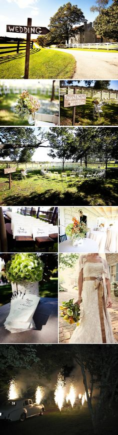 outdoor wedding.  I also LOVE the dress in the photo!