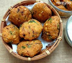 Masala Vada /Lentil Fritters A crisp and delicious lentil cutlet from southern India Vegetarian Cooking, Vegetarian Recipes, Cooking Recipes, Cooking Time, Indian Street Food, South Indian Food, Indian Snacks, Indian Food Recipes, Tapas