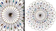 Décoration murale abstraite roue de paon