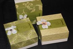 Set of 3 Gift Boxes by ladystamp on Etsy