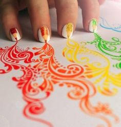 painted by nails