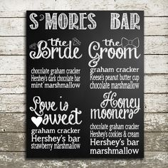 S'mores Bar Menu Printable 8x10 by BlessHerHeartInvites on Etsy, $10.00