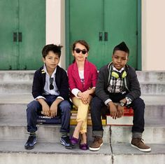 GapKids shine with girls' Jewel Box Skinnies and boys' Action Stretch Denim in Back to School brights. Fall 2012.