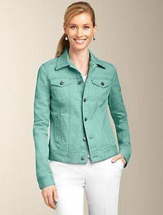 Talbots - Colored Denim Jacket | Jackets | Petites