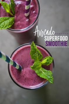 Avocado Superfood Smoothie.  Your skin will love you for it.