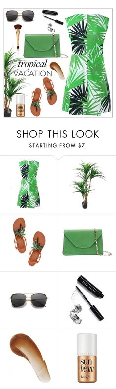 """""""Tropical Vacation"""" by anilia ❤ liked on Polyvore featuring Tory Burch, Valextra, Bobbi Brown Cosmetics, This Works, Benefit, tarte and TropicalVacation"""