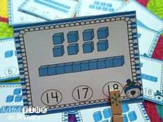 Place Value clip cards to work on numbers 1-20