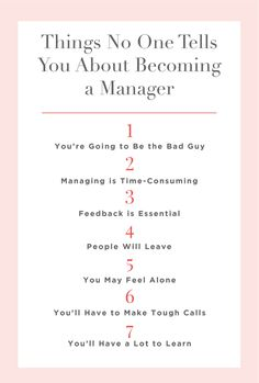 7 Things No One Tells You About Becoming a Manager. Managing people is time-consuming—and really hard. Servant Leadership, Leadership Qualities, Leadership Coaching, Leadership Development, Leadership Quotes, Life Coaching, Leadership Activities, Manager Quotes, Leader Quotes