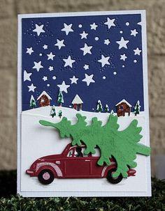 Het is helemaal 'in' een rode Volkswagen met een kerstboompje er op, je ziet het bij veel kerstsites voorbij komen. Het is ook een typi...
