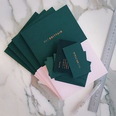 Forest Green and Pink | Color #identity #cards