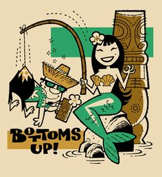 Bottoms Up by DEREK YANIGER......... i have one of these limited edition prints.. :-)