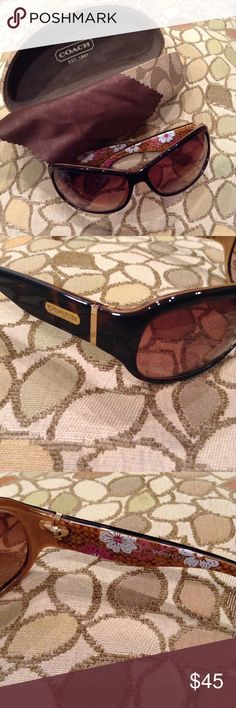 💕COACH Sunglasses 💯 Authentic!💕 EUC! No damage or scratches. Comes with cleaning cloth and case. Thanks for looking!! Coach Accessories Sunglasses